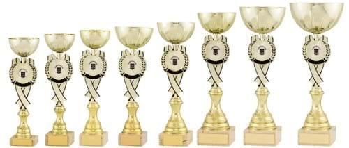 Tall Gold Bowl Cups Black Trim 2059 Series