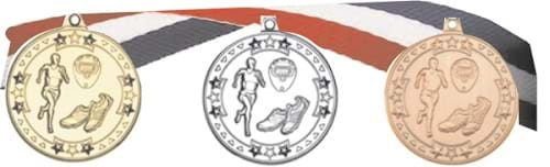 Cast Coin Medals with Ribbons