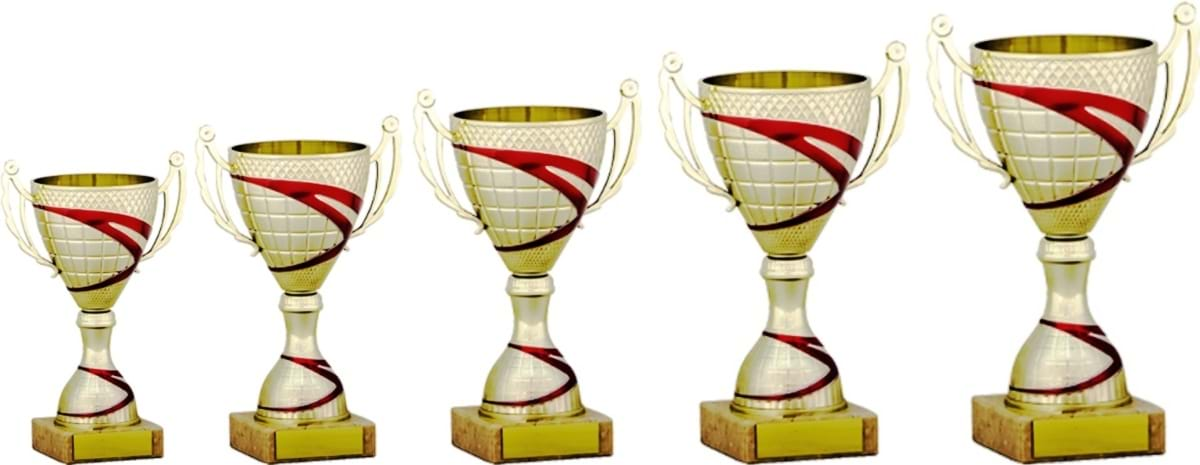Gold Red Cup Trophies