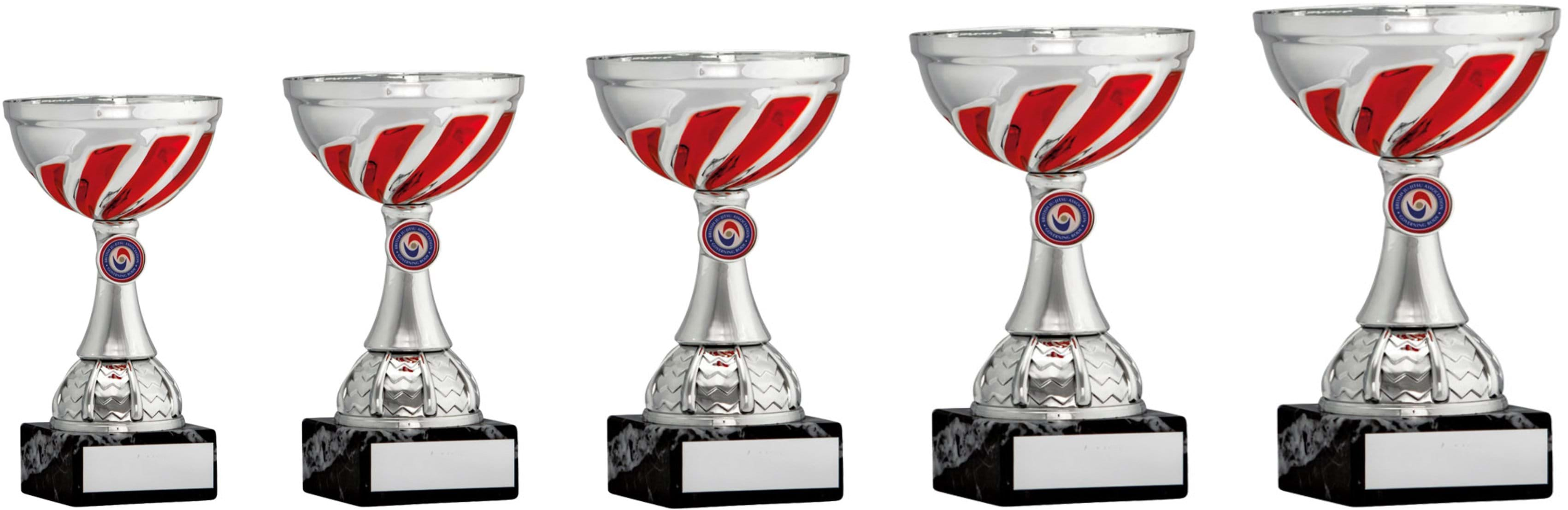 Silver Red Swirl Cup Trophies 1903 Series