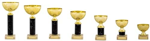 Gold Black Metal Bowl Trophy DSMS300 Series