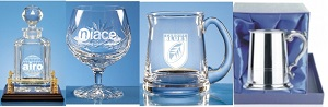 Engraved Presentation Tankards, Glass & Decanters