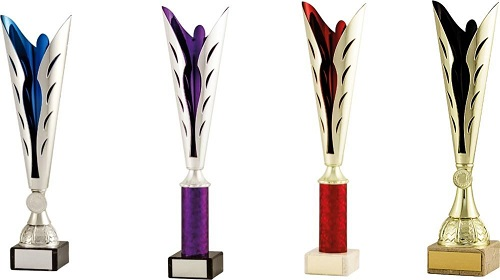 Coloured Fluted Plastic Cup Trophies