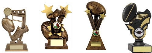 Rugby Boot and Ball Trophies
